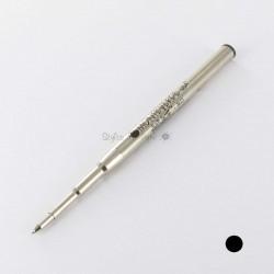 Lot de 12 Recharges BILLE NOIRE MOYENNE 0,7 mm (recharges génériques/compatibles) pour stylos MB.
