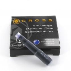 Lot de 5 Boites de Cartouches d'encre Cross® Bleu-Noir