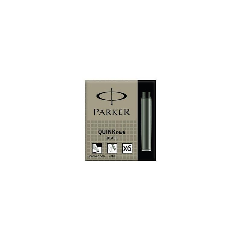 Cartouches petit format Noires Parker Quink- Boite de 5
