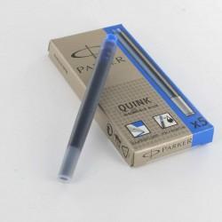 Cartouches Bleues effaçables Parker Quink- Boite de 5