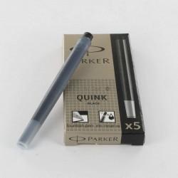 Cartouches Noires Longues boite de 5 Parker® Quink