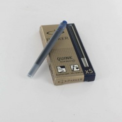 Lot de 10 - Boites de 5 Cartouches Bleues-Noires Parker® Quink