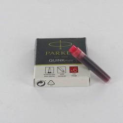 Cartouches Rouges Parker Quink- Boite de 5