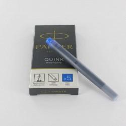 Cartouches Bleues effaçables boite de 5 Parker® Quink
