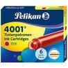 Cartouches Rouge boite de 6 Pelikan® standard