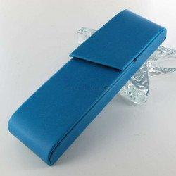 Etui à Stylo Nomade Bleu Turquoise Oberthur® 2 Stylos