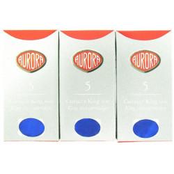 Lot de 5 boîtes de cartouches d'encre Aurora® Bleues