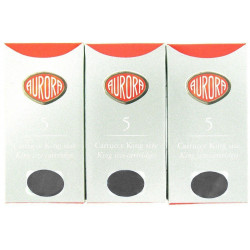 Lot de 5 boîtes de cartouches d'encre Aurora® Noires
