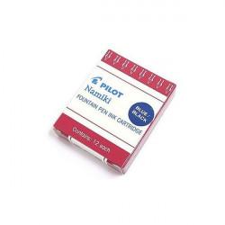 Lot de 5 boîtes de cartouches Bleues-Noires Pilot® Namiki